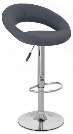1 Sienna Grey Faux Leather Round Bar Stool